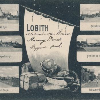 Ansichtkaart meerluik Lobith-Tolkamer