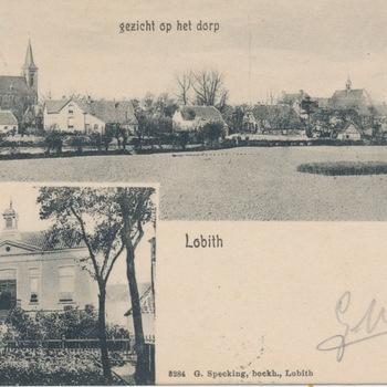 Ansichtkaart tweeluik Lobith