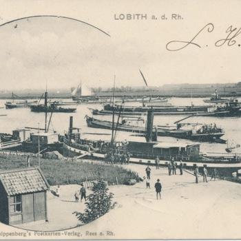 Zicht op de Rijn te Lobith