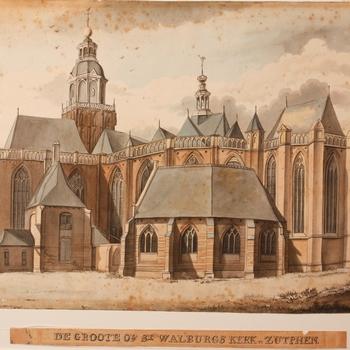 De Groote of St Walburgskerk te Zutphen.