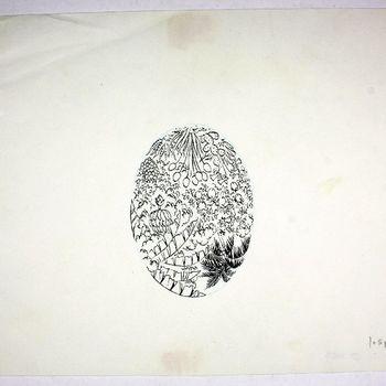 tekening van pen op papier gemaakt door Jo Spier