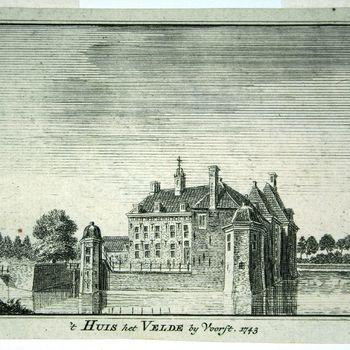 't Huis het Velde bij Voorst. 1743