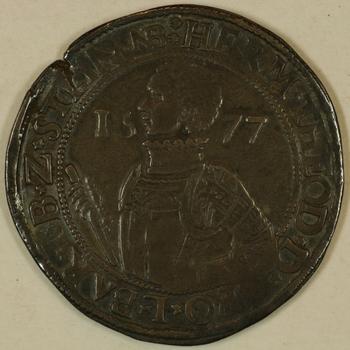 Daalder van 30 stuiver 1577  Batenburg.
