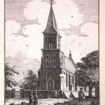 Kerk te Almen bij Zutphen. L'Englise à Almen