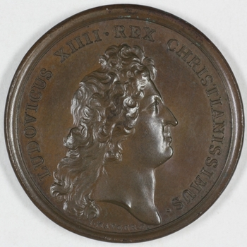 Penning Lodewijk XIV 1672, Frankrijk.