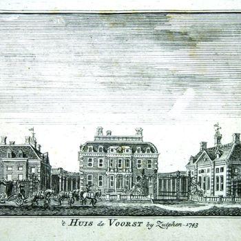 't Huis de Voorst by Zutphen. 1743