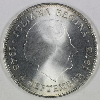 TIEN gulden 1973 25 JUBILEUM JULIANA, Nederland