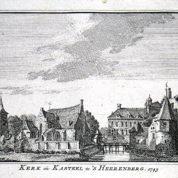 Kerk en Kasteel te 's Heerenberg. 1743