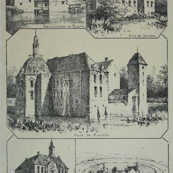 Watermolen te Ruurlo. Huis te Vorden. Huis te Ruurlo. Nettelhorst. Het Huis Wildenborch omstreeks 1650.