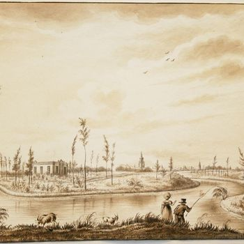 Nieuwe begraafplaats der stad Zutphen. 1830.
