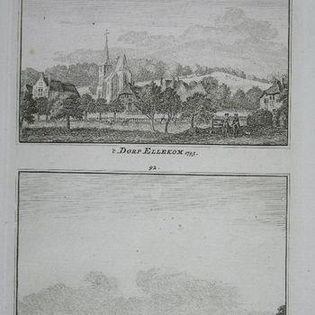 't Dorp Ellekom 1743. 't Lust Huis Dieren. 1743
