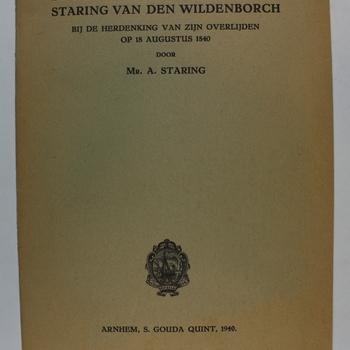De portretten van den dichter Staring van den Wildenborch : bij de herdenking van zijn overlijden op 18 Augustus 1840 / door Mr. A. Staring