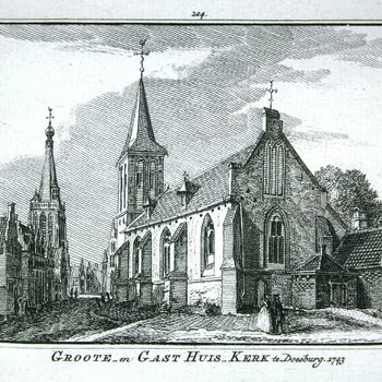Groote- en Gast Huis-Kerk te Doesburg. 1743