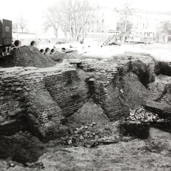 Opgraving stadsmuur Waterstraat