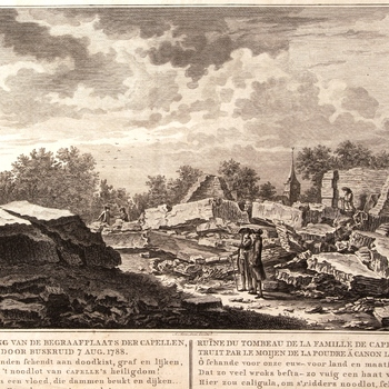 Verwoesting van de begraafplaats der Capellen [...]