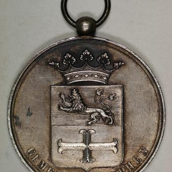Draagpenning met oog (zilver) 1891, Zutphen