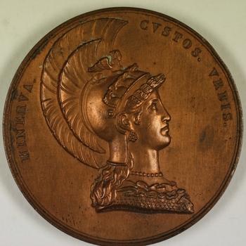 Bronzen penning tweede eeuwfeest universiteit Utrecht 1836