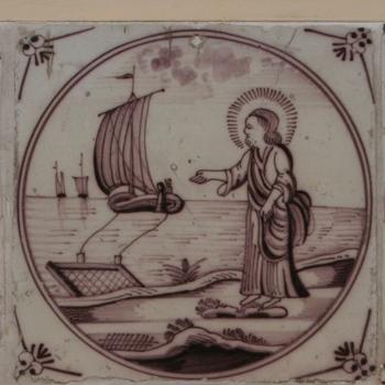 Tegels met voorstellingen uit het Nieuwe Testament