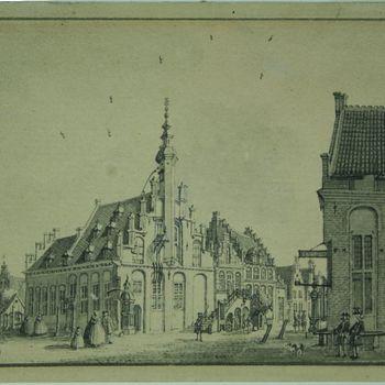 Raedthuis Hoofdwagt Stadswaag en Vismarkt(?)