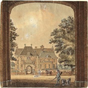 Het huis Dort, bij Zutphen. 3 August: 1744