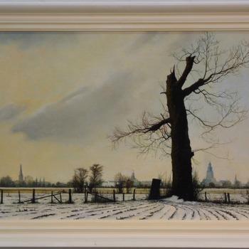 Winter Gezicht op Zutphen, gezien vanuit het Westen