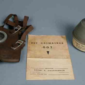 Gasmasker, filter en gebruiksaanwijzing