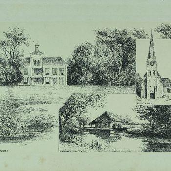 De Lathmer, Kerk te Wilp. Watermolen bij Voorst