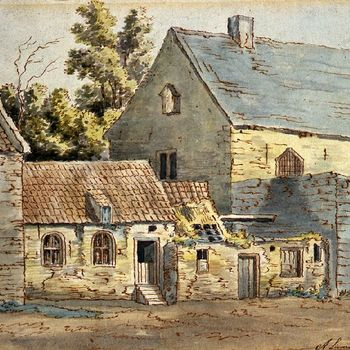 Oude huisjes aan Klooster Rijkenhage