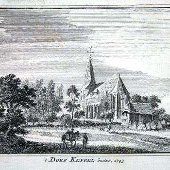 't Dorp Keppel buiten. 1743