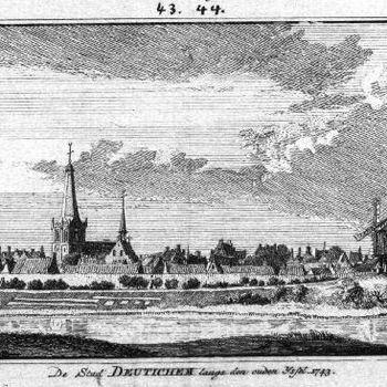 De Stad Deutichem langs den Ouden IJssel. 1743.