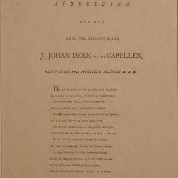 Gedicht: Op de Afbeelding van den [...] Jr. Johan Derk van der Capellen, Heer van der Pol, Appeltern, Altforst &ce. &ce.&ce.'