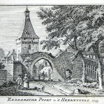 Zeddamsche Poort te 's Heerenberg. 1743