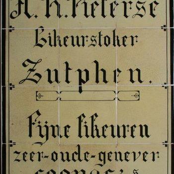 Tegeltableau H.R. Pieterse Likeurstoker Zutphen