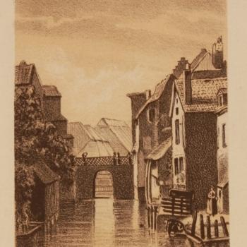 Zutphen (gezigt op de Berkel.)