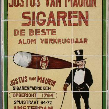 Tegeltableau Justus van Maurik's Sigaren