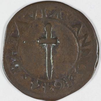Halve stuiver 1644 VOC , Ned.-Indie