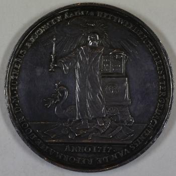 Gedenkpenning 2e eeuwfeest hervorming 1717