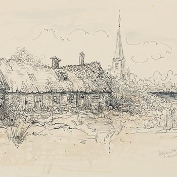 Pentekening door G.J. Meinen