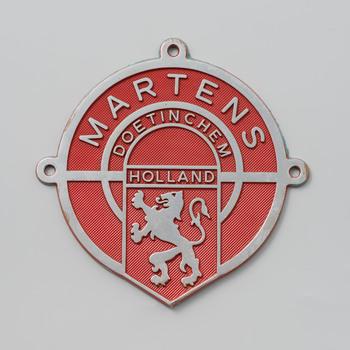 Schild van brandkastenfabriek 'Martens Doetinchem'.