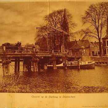 Ansicht, waarop brug over Oude IJssel en deel Waterstraat