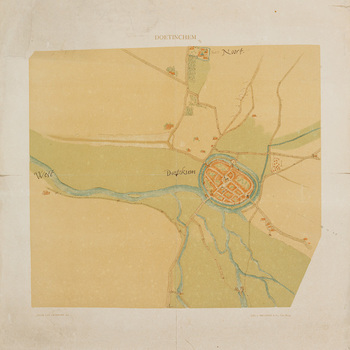 Kaart, waarop afgebeeld 'Doetinchem'