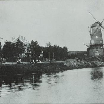 Foto in zwart-wit van de lokatie van Misset in de binnenstad.