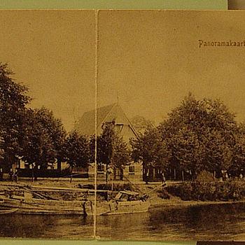 Panoramakaart met brug over Oude IJssel
