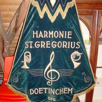 Vaandel voor harmonie/fanfarecorps, St. Gregorius
