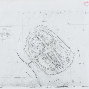 Kaart, fotocopie, waarop afgebeeld 'Gemeente Stad Doetinchem, sectie C, genaamd 'Stad'