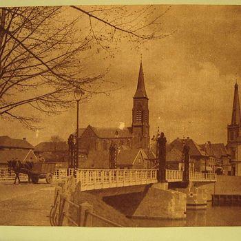 Ansichtkaart met afbeelding van hefbrug over Oude IJssel