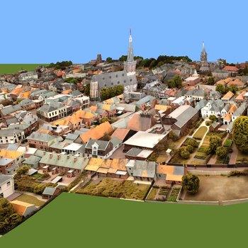Maquette van binnenstad van Doetinchem omstreeks 1940