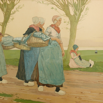 Klederdrachten van de Veluwe, door Henri Cassiers