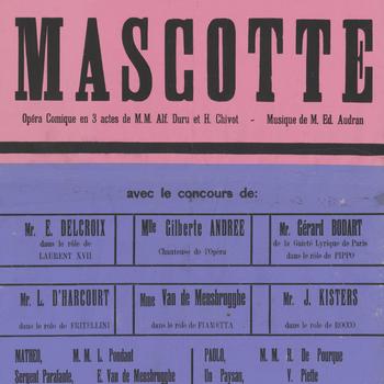 Affiche van de Kampschouwburg Harderwijk: Opera Comique 'La Mascotte', 1916