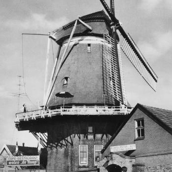 Prentbriefkaart, getiteld 'Harderwijk, Molen 'De Hoop'